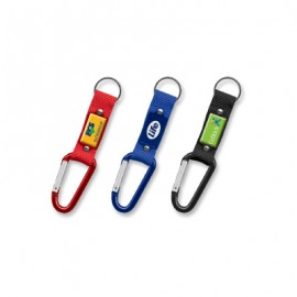 The Trends Collection Carabiner Key Ring is a woven polyester key ring with carabiner.  2 colours.  Great branded practical promotional product.
