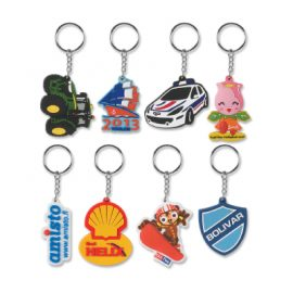 The Trends Collection PVC Key Rings are a flexible pvc rubber injected key rings.  4 colours included in price.  Great branded custom promotional products.