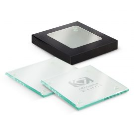 The Trends Collection Saturn Glass Coaster Set is a high quality machine cut set of 2 coasters. Great corporate gift or branded promotional product.