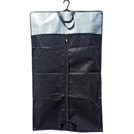 The Legend Life Non Woven Suit Garment Carrier with Handles is perfect for protecting garments. Available in Black/Grey. Great branded clothes bags & retail products.