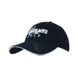 Headwear Professionals Brushed Heavy Cotton with Embossed Pu Peak Cap