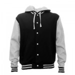 The Aurora Hooded Letterman is a 280gsm poly/cotton garment. Available in Black. Sizes XS - 3XL. Great branded Lettermans from Aurora Clothing.