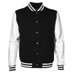 The Aurora Letterman Jacket is a 280gsm poly/cotton fabric unisex jacket. Available in Black and Navy. Sizes XXS - 3XL. Great branded apparel.