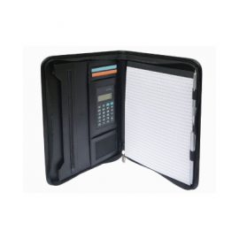 The Legend Life Windsor A4 Zip Compendium with Calculator has all the basics & a calculator. Black. Great branded portfolios and business compendiums.