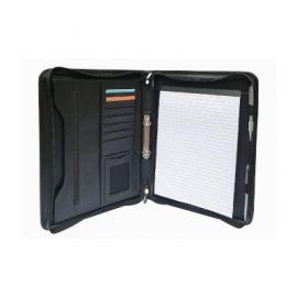 The Legend Life Windsor 2 Ring Zip Portfolio has a removable 2 ring binder, card holder & pen loop. Black. Great branded portfolios & business compendiums.
