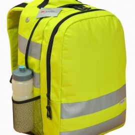 The Legend Life Hi Viz Backpack has 3m Scotchlite Reflective Material on front, sides and straps.  Available in Hi Viz Yellow.  Great branded hi viz backpacks & bags.