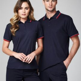 The Biz Collection Ladies Cambridge Polo is a 50% cotton, BIZ COOL™ Polyester Pique polo shirt.  7 colours.  Sizes 8 - 24.  Great branded Biz Cool polo shirts & uniforms.