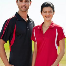 The Biz Collection Ladies Flash Polo is a BIZ COOL™ 100% Breathable Polyester Single Jersey Knit polo shirt.  16 colours.  8 - 24.  Great branded biz cool polo shirts.