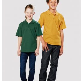 The Biz Collection Kids Crew Polo is a 65% polyester, 35% cotton kids polo shirt.  12 colours.  Great branded kids polos & sportswear.