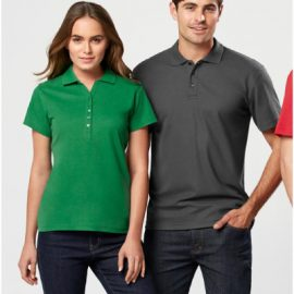 The Biz Collection Mens Crew Polo Shirt is made from 65% Polyester, 35% Cotton Pique Low-pill Yarn.  In 17 colours.  Great branded polos & uniforms.