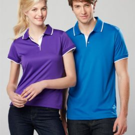 The Biz Collection Mens Miami Polo Shirt is made from 100% Biz Cool polyester stretch interlock fabric.  4 colours.  White contrast collar & cuff.  Great branded polos & uniforms.