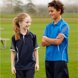 The Biz Collection Kids Razor Polo is made from 100% Biz Cool polyester sports interlock fabric. 14 colours. Great branded kids polo & sportswear.