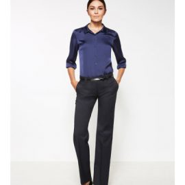 The Biz Corporates Womens Hipster Fit Pant is a 92% polyester, 8% bamboo pant. Available in 3 colours. Sizes 4-24.