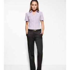 The Biz Corporates Womens Adjustable Waist Pant is a 92% polyester, 8% bamboo with a hidden elastic waist and deep front side pockets. Available in 3 colours. Sizes 4-30.