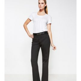 The Biz Collection Relaxed Fit Straight Leg Pant is a 55% Polyester, 43% Wool, 2% Elastane. Available in 3 colours. Sizes 4-26.