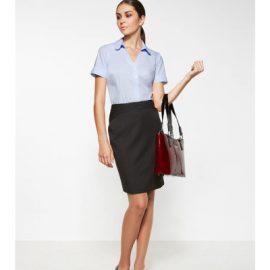 20214 Biz Corporates Chevron Band Skirt