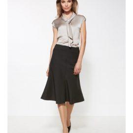 24013 Biz Corporates Fluted 3/4 length skirt