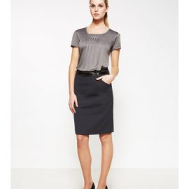 The Biz Corporates Womens Multi-Pleat Skirt is a 55% Polyester, 43% Wool, 2% Elastane skirt. Available in 3 colours. Sizes 4-26.