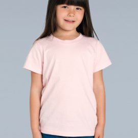 The AS Colour Kids Tee is a 180gsm, 100% combed cotton kids tee.  Available in 11 colours.  Sizes 2 - 6.  Great branded printed tees for kids.