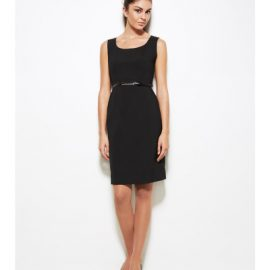 34011 Biz Corporates Sleeveless Side Zip Dress