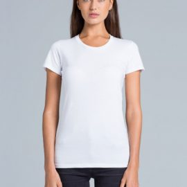 The AS Colour Wafer Tee is a 150gsm, 100% Cotton womens tee. Available in 7 colours. Sizes XS - XL. Great printed womens tees from AS Colour.