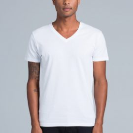 The AS Colour Tarmac V-Neck Tee is a 150gsm, 100% cotton mens tee. In Black, Grey Marle & White. Sizes S - 2XL. Great printed v-neck AS Colour mens tee.