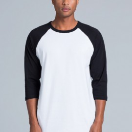 The AS Colour Raglan Tee is a 150gsm, 100% cotton 3/4 sleeve tee. Available in 5 colour combinations. Sizes XS - 2XL. Great branded AS Colour Tees.