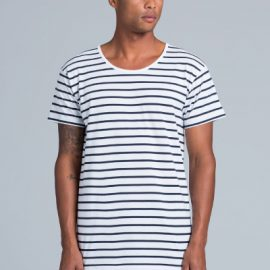 The AS Colour Wire Stripe Tee is a 160gsm, 100% cotton striped tee.  Available in 3 colour contrast combinations.  Sizes S - 2XL.  Great branded striped tee.