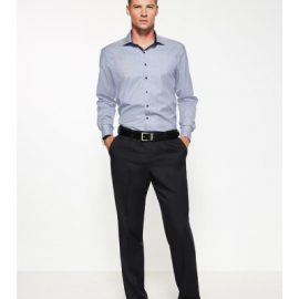 The Biz Corporates Mens One Pleat Pant Regular is a cool stretch pant  made of 92% Polyester 8% Bamboo Charcoal. Available in 3 colours. Sizes 77R-102R.