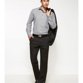 The Biz Corporates Mens Flat Front Pant Stout is a cool stretch pant made of 92% Polyester 8% Bamboo Charcoal. Available in 3 colours. Sizes 107S-127S.