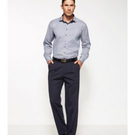 The Biz Corporates Mens One Pleat Pant Regular is a warm wool blend pant  made of 55% Polyester, 43% Wool, 2% Elastane. Available in 3 colours. Sizes 77R-122R.
