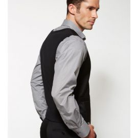 The Biz Corporates Mens Peaked Vest Knitted Back is a cool stretch jacket made of 92% Polyester 8% Bamboo Charcoal. Available in Blacks. Sizes 87R - 142R.