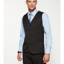 The Biz Corporates Mens Long Line Vest is made from cool stretch plain suiting.  92% polyester. Available in 3 colours. Sizes 87R - 142R.
