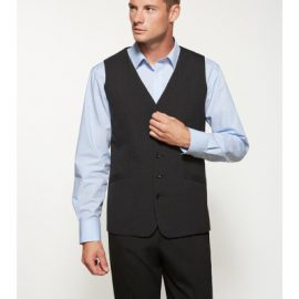The Biz Corporates Mens Longline Vest is a warm wool blend made of 55% Polyester, 43% Wool, 2% Elastane. Available in 3 colours. Sizes 87R - 142R.