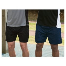 The Unlimited Edition Sports Adult Knit Short are a 100% polyester 150gm, double knit, quick dry short.  Black or Navy.  Great sports shorts from C-Force.