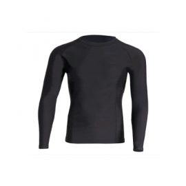 The Unlimited Edition Long Sleeve Compression Top is a great unisex fit for adults.  Available in Black with black stitching. Sizes 2XS- 3XL