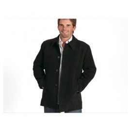 The Unlimited Editions Mens Hudson Coat is made from 80% wool and 20% viscose. Available in Gunmetal/Black only.  Sizes S-5XL