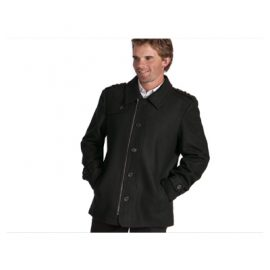The Unlimited Edition Mens City Coat is made from 80% wool and 20% polyester. Available in Black.  Sizes S-5XL.