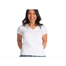 The Unlimited Edition Womens Urban V Tee is made from 95% cotton and 5% elastane blend. 190gsm. Available in 3 colours. Sizes 8-20.