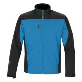 The Stormtech Mens Edge Softshell Jacket is a two tone softshell.  Breathable & waterproof.  4 colours.  Great branded winter jackets & uniforms.