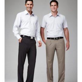 The Biz Collection Mens Classic Pleat Front Pant is a comfort fit, 65% polyester classic pant.  3 colours.  Great office work wear from Biz Collection.
