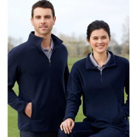 The Biz Collection Mens Trinity 1/2 Zip Pullover is a 200gsm, modern fit microfleece.  Black or Navy.  S - 5xL.  Great fleece workwear from Biz Collection.