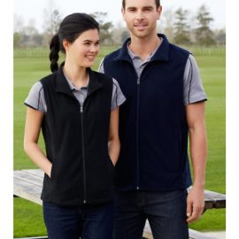 The Biz Collection Ladies Trinity Vest is a 200gsm modern fit microfleece vest.  Black or Navy.  S - 2XL.  Great microfleece vest from Biz Collection.