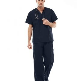 The Biz Collection Unisex Classic Scrubs Top is made from 65% Polyester and 35% cotton.  It is an easy fit and has two lower front pockets. 6 colours.