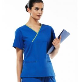 The Biz Collection Crossover Scrubs Top is a 65% polyester scrub top. 155gsm. 6 colour combinations. Great healthcare scrubs uniforms.