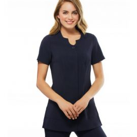 The Biz Collection Ladies Eden Tunic is a 97% Polyester, modern fit tunic.  Perfect for beauty and healthcare.  Great branded uniforms & Biz Collection clothing.