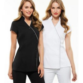The Biz Collection Ladies Zen Crossover Tunic is a 97% polyester tunic. In 4 colours. 6 - 20. Great branded beauty or health uniforms.
