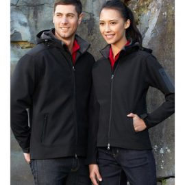 The Biz Collection Mens Summit Jacket is a modern fit, water repellent, Biz Tech Jacket.  Black or Navy.  S - 5XL.  Great work jackets from Biz Collection.