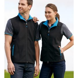 The Biz Collection Ladies Geneva Vest is made from Biz Tech material.  Water repellent and breathable.  4 colours.  Great branded vests & uniforms.