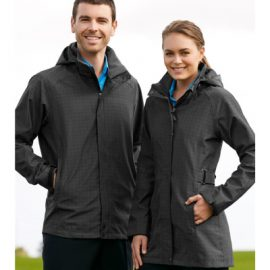 The Biz Collection Ladies Quantum Jacket is a Biz Tech, waterproof, windproof jacket.  Graphite.  Great work jackets from Biz Collection